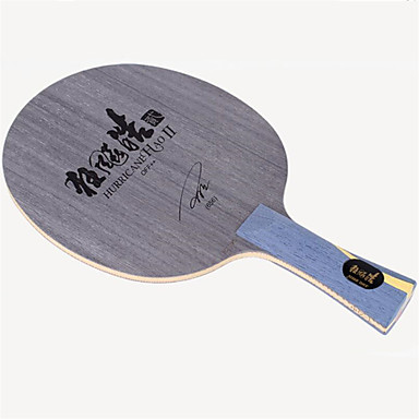 DHS® Hurricane HAO II FL Ping Pang/מחבטי טניס שולחן לביש עמיד עץ סיבי פחמן 1