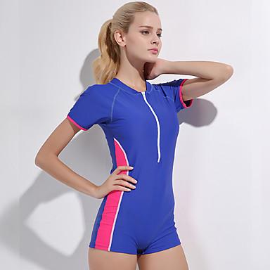 f81dd6f7d Mujer Traje de baño Resistencia al cloro Cómodo Deportes Nailon Licra Manga  Corta Bañadores Ropa de
