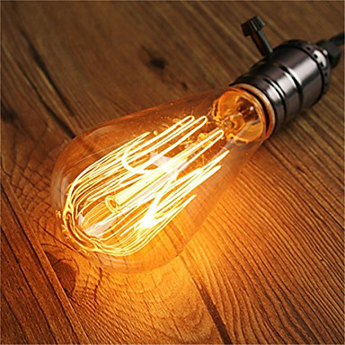 abordables Incandescent-1pc 60 W E26 / E27 ST64 Blanc Chaud 2200-2300 k Rétro / Intensité Réglable / Décorative Ampoule incandescente Edison Vintage 220-240 V