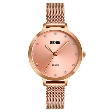 beeceed78c7 SKMEI Mulheres Relógio Casual Relógio de Moda Único Criativo relógio  Japanês Quartzo Aço Inoxidável Prata 30 m Impermeável Relógio Casual  imitação de ...
