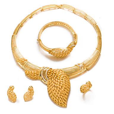 Mujer Conjunto de joyas - Chapado en Oro Importante 714a6e28d1f4
