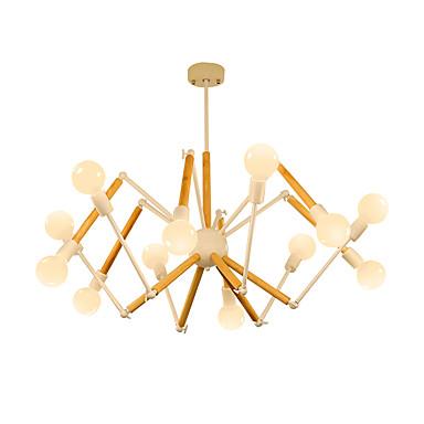 LightMyself™ Żyrandol Światło rozproszone Malowane wykończenia Metal Drewno / Bambus 110-120V / 220-240V Ciepła biel / Biały Zawiera żarówkę / E26 / E27
