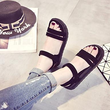 Talón PU Caqui 06600726 Mujer bloque Negro Confort Verano Zapatos de Sandalias PXw1A7