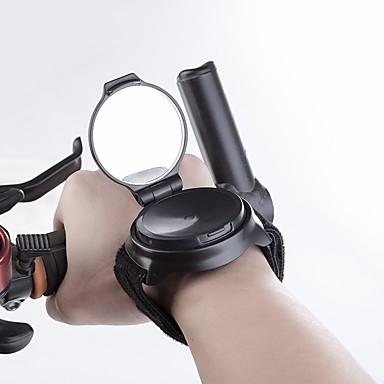 billige Sykkeltilbehør-Bakspeil Sykkelspeil til håndleddet Lettvekt 360 Rota Til Vei Sykkel Fjellsykkel Foldesykkel Sykling Plastikker Svart