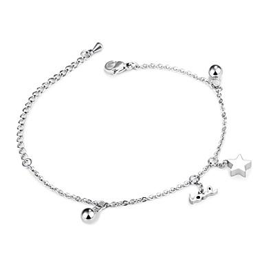 voordelige Armband-Dames Bedelarmbanden Dames Zoet Ruusukulta Armband sieraden Zilver / Goud Rose Voor Lahja Avond Feest / Roestvrij staal