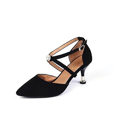 Damen Schuhe PU Frühling Sommer Komfort Sandalen Niedriger Heel Runde Zehe Klett für Normal Beige Rosa