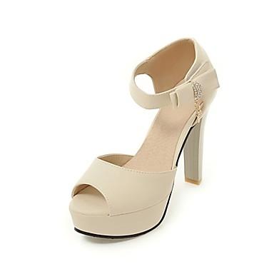 Matières Femme Bottier 06580674 Chaussures Rose Noir Sandales Confort Nouveauté ouvert Talon Similicuir Eté Beige Personnalisées Bout fqg1qw