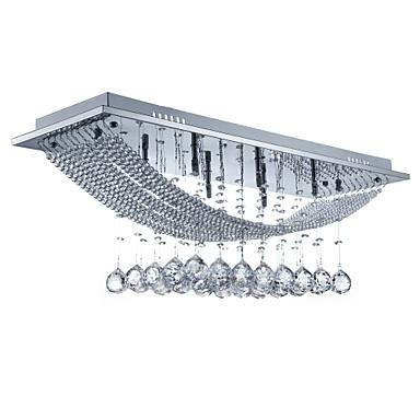 SL® 8-Light Takplafond Omgivelseslys galvanisert Metall Krystall, Pære Inkludert 110-120V / 220-240V Pære Inkludert / G4