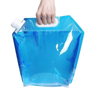 דלי מתקפל לקמפינג קל משקל / נסיעות / BPA חינם פלסטי חיצוני ל קמפינג כחול / שקוף