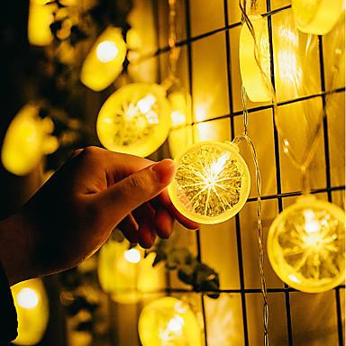 1.5 מ ' חוטי תאורה 10 נוריות 1.5M מחרוזת אור לבן חם דקורטיבי סוללות AA 1pc