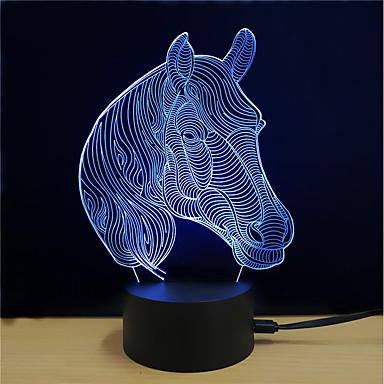 1set אור תלת ממדי לגעת 7-Color DC מופעל הפגת מתחים וחרדה עם יציאת USB החלפת צבעים