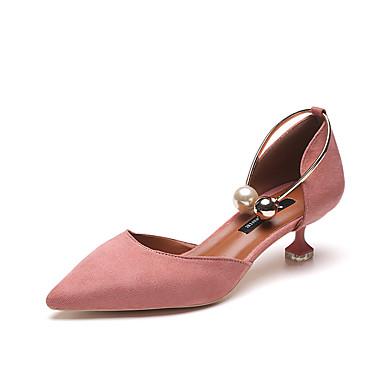 Dame Sko PU Sommer Høye hæler Stiletthæl til Svart Blå Rosa