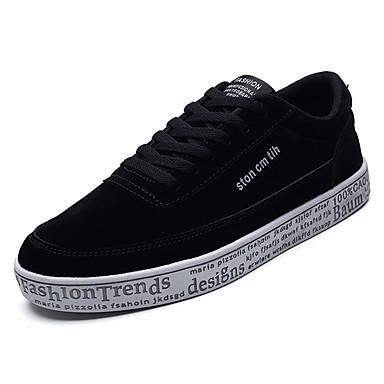 בגדי ריקוד גברים גומי אביב / סתיו נוחות נעלי ספורט אפור / שחור וזהב / שחור לבן