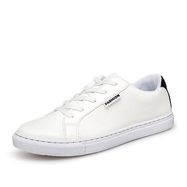 Miesten kengät Kangas Kevät Syksy laahustaa saappaat Comfort Lenkkitossut Solmittavat varten Kausaliteetti Valkoinen Musta Harmaa Punainen