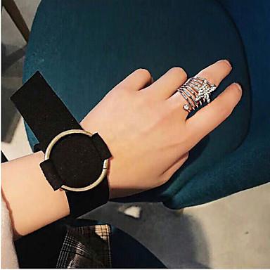 voordelige Armband-Dames Wikkelarmbanden Dames Eenvoudig Europees Modieus Stof Armband sieraden Zwart / Zilver / Rood Voor Dagelijks