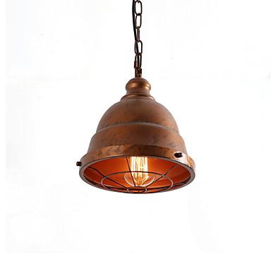 retro industriell enkel loft anheng lys metall spisestue kjøkken bar kafé hallway lysarmatur