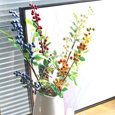 פרחים מלאכותיים 1 ענף כפרי / סגנון מינימליסטי צמחים פרחים לשולחן