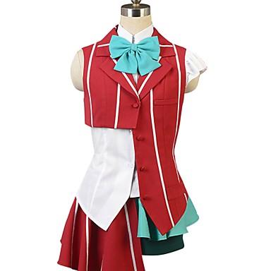Zainspirowany przez Macross Frontier Cosplay Anime Kostiumy cosplay Garnitury cosplay Inne Krótki rękaw Krawat / Koszula / Top Na Męskie / Damskie Kostiumy na Halloween