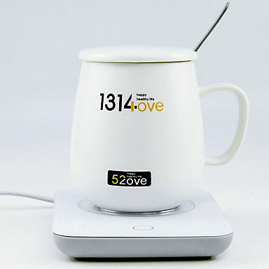 1pack משקה קרמי / ספל חם טמפרטורה בקרת קפה, תה, קקאו חם ועוד חימום קבוע אוטומטי כוח עבור הבית אישי