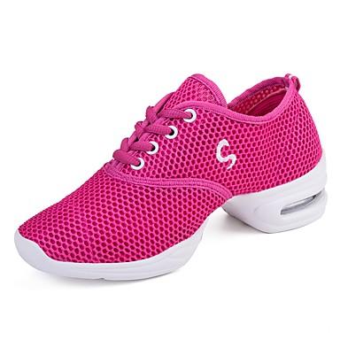 Damskie Adidasy do tańca Siateczka Adidasy Łączenie Niski obcas Personlaizowane Buty do tańca Różowy