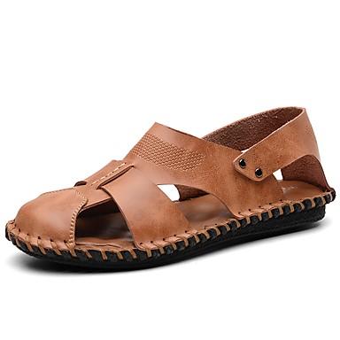 Sommer Herrn Leder Normal Büro Sandalen Schuhe Komfort Für mN8wn0vO