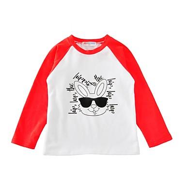 baratos Blusas para Meninas-Bébé Unisexo Activo Diário Esportes Animal Estampado Animal Estampado Manga Longa Padrão Algodão Camiseta Preto