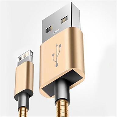 Oświetlenie Adapter kabla USB Wysoka prędkość / Szybka opłata Kable Na iPhone 100 cm Na Aluminium