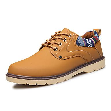 男性用 靴 PUレザー 春 秋 コンフォートシューズ オックスフォードシューズ ブラック Brown ブルー