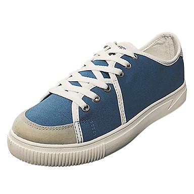 בגדי ריקוד גברים גומי אביב / סתיו נוחות נעלי ספורט לבן / שחור / כחול