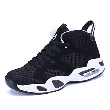 נעליים מיקרופייבר PU סינתטי אביב סתיו נוחות נעלי אתלטיקה ל אתלטי לבן שחור אדום