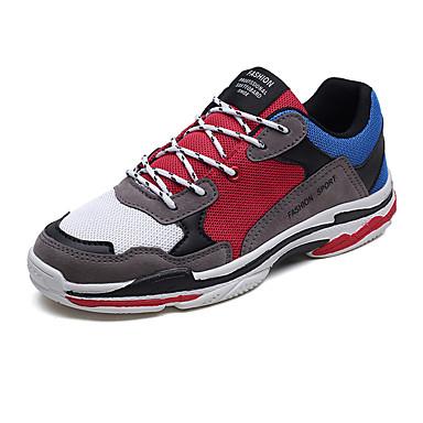 בגדי ריקוד גברים טול / PU אביב / סתיו נוחות נעלי אתלטיקה ריצה קולור בלוק שחור / בז' / אפור