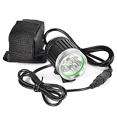 مصابيح أمامية مصابيح الدراجة LED LED بواعث 6000 lm 1 إضاءة الوضع متخصص رداء واقي خفة الوزن Camping / Hiking / Caving أخضر الصيد أسود