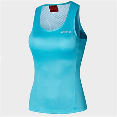 SANTIC בגדי ריקוד נשים ללא שרוולים ווסט לרכיבה - כחול אופניים אפוד פוליאסטר אחיד / סטרצ'י (נמתח)
