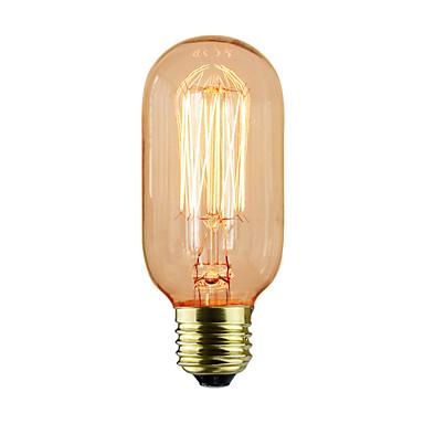 1pc 40W E26/E27 T45 K ליטוש וינטג 'אדיסון Light Bulb AC 220-240V V