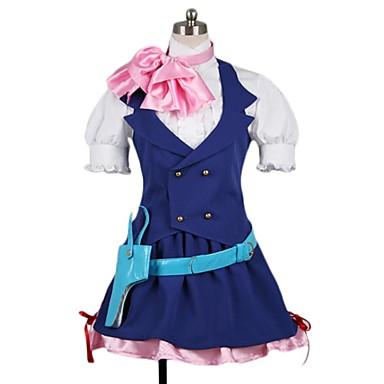 Zainspirowany przez Macross Frontier Cosplay Anime Kostiumy cosplay Garnitury cosplay Inne Krótki rękaw Krawat / Koszula / Spódnica Na Męskie / Damskie