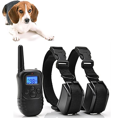 Dogs Bark Collar / Dog Training Collars Waterproof / Rechargeable Vibrating / Micro Electric Shock / No Harm To Dogs or other Pets Plastics / Nylon Black 300M