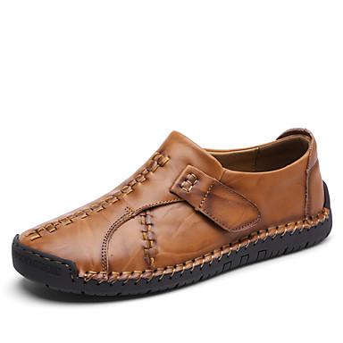 Męskie Komfortowe buty Skóra Lato Mokasyny i buty wsuwane Czarny / Jasnobrązowy / Ciemnobrązowy