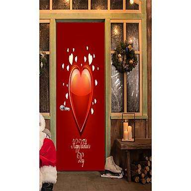 Naklejki na drzwi - Naklejki ścienne lotnicze / Naklejki ścienne 3D Kształty / Serca Salon / Domowy / Możliwość zmiany miejsca