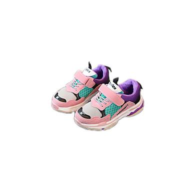 בנים נעליים סוויד / טול / PU אביב נוחות / סוליות מוארות נעלי אתלטיקה ריצה / הליכה ל שחור / אפור / ורוד