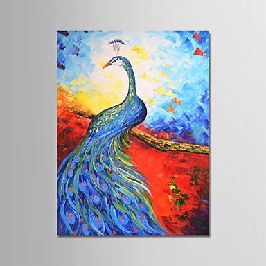 Hang-Malowane obraz olejny Ręcznie malowane - Abstrakcja Nowoczesny Zwinięte płótna / Zwijane płótno