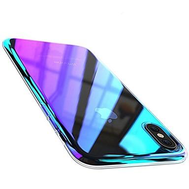 hesapli iPhone Kılıfları-Pouzdro Uyumluluk Apple iPhone X / iPhone 8 Plus / iPhone 8 Kaplama Arka Kapak Renkli Gradyan Sert PC