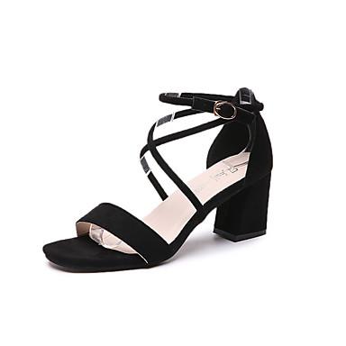 Damen Schuhe PU Sommer Sandalen Stöckelabsatz für Schwarz Silber Purpur Blau