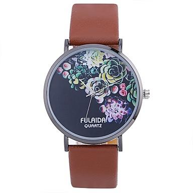 baratos Relógios Senhora-Mulheres Único Criativo relógio Relógio de Moda Relógio Casual Chinês Quartzo Relógio Casual PU Banda Flor Fashion Preta Branco Azul