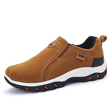 Herrn Schuhe PU Frühling Herbst Komfort Sneakers Schnürsenkel für Normal Draussen Schwarz Grau Braun