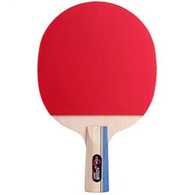 DHS® E206 Ping Pang/מחבטי טניס שולחן עץ גוּמִי ידית קצרה פצעונים