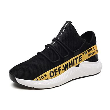 Hombre Zapatos Tul / PU Verano Confort Zapatillas de Atletismo Running Negro y Oro / Negro / blanco / Negro / Rojo S9d5sspd