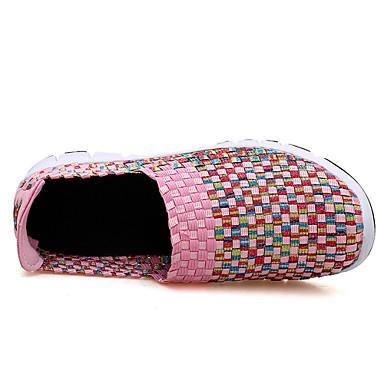 Rose Eté D6148 Talon Chaussures Chaussons 06601921 Plat Printemps Vert Tissu Mocassins et Confort Femme Bleu nwZtxO8qCx