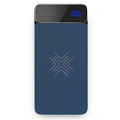 8000 mAh Pro Výkonná baterie Externí baterie 5 V Pro Pro Battery Charger QC 2.0 / Bezdrátová nabíječka LCD