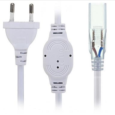 zdm 1pc ac220 v żarówka akcesoria / pasek światła akcesoria / eu wtyczka elektryczna nas wtyczka elektryczna / złącze elektryczne tworzywo sztuczne do taśmy led światło