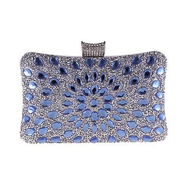 23f0dd2f04 Γυναικεία Τσάντες Πολυεστέρας Βραδινή τσάντα Κρυστάλλινη λεπτομέρεια  Θαλασσί   Χρυσό   Ασημί